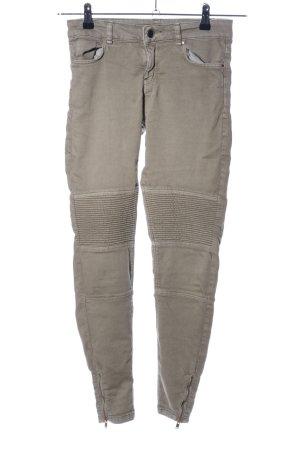Bershka Pantalon taille haute kaki style décontracté
