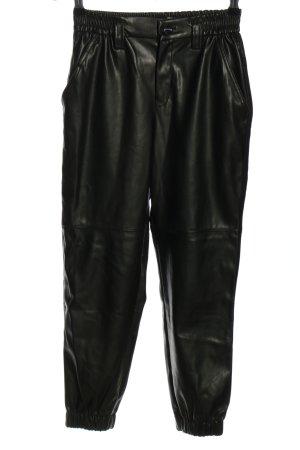 Bershka Hoge taille broek zwart casual uitstraling