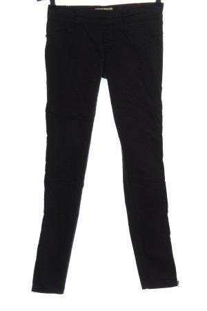 Bershka Spodnie z wysokim stanem czarny W stylu casual