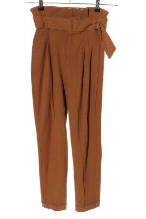 Bershka High-Waist Hose bronzefarben Business-Look