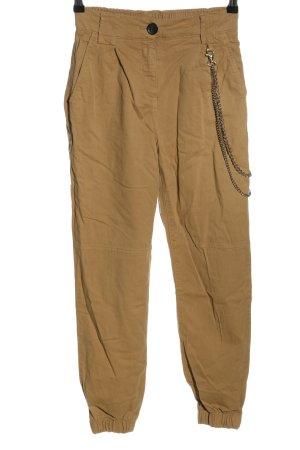 Bershka Pantalone a vita alta bronzo stile casual