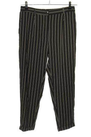 Bershka High Waist Trousers black-white allover print casual look