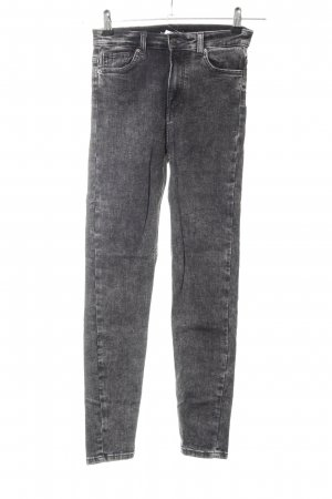 Bershka Hoge taille jeans zwart casual uitstraling