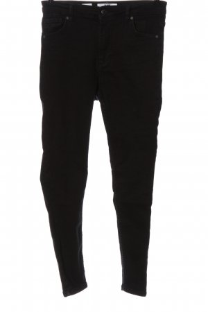 Bershka High Waist Jeans schwarz Casual-Look