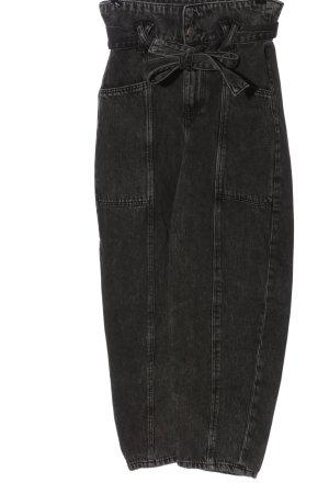 Bershka High Waist Jeans light grey casual look