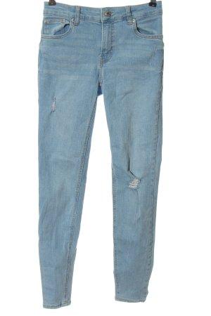 Bershka Jeansy z wysokim stanem niebieski W stylu casual