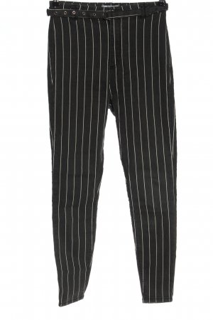 Bershka High Waist Jeans hellgrau-weiß Allover-Druck Casual-Look