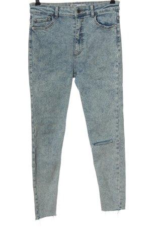 Bershka Jeans a vita alta blu stile casual