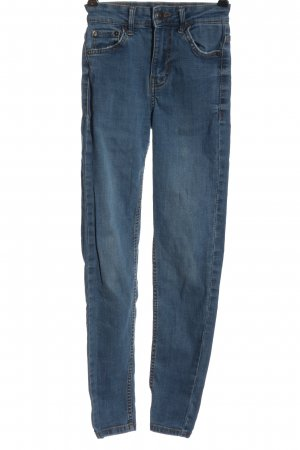 Bershka High Waist Jeans blau Casual-Look