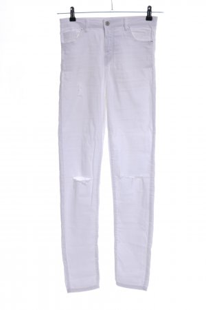 Bershka Hoge taille jeans wit casual uitstraling