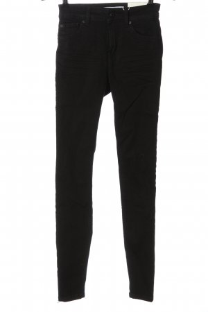 Bershka Jeans a vita alta nero stile casual