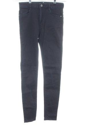 Bershka Hoge taille jeans blauw casual uitstraling