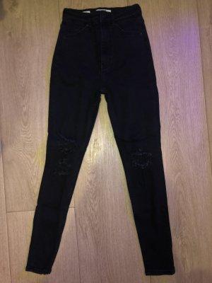 Bershka High Waist Trousers black