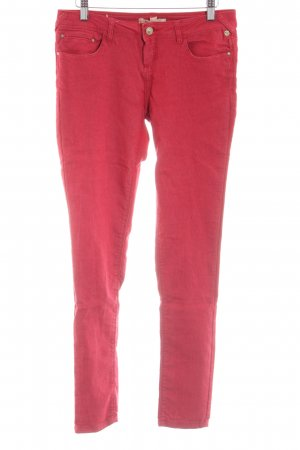 Bershka High Waist Jeans rot Casual-Look