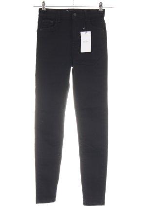 Bershka Hoge taille jeans zwart zakelijke stijl