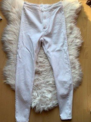 Bershka Hoge taille jeans wit