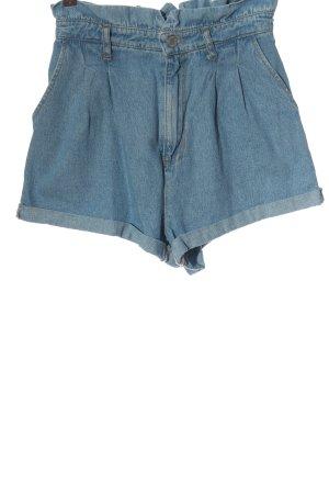 Bershka High-Waist-Shorts blau Casual-Look