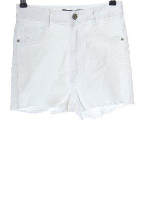 Bershka High-Waist-Shorts weiß Casual-Look