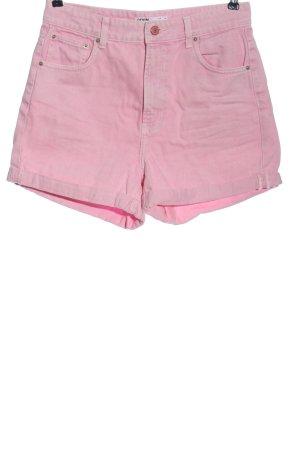 Bershka High-Waist-Shorts pink Casual-Look