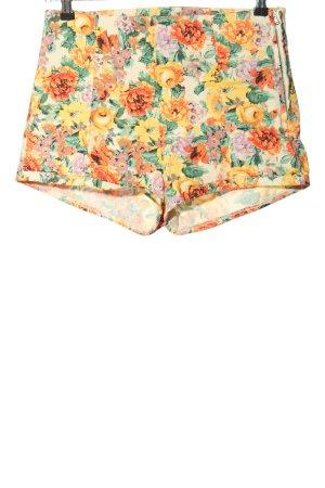 Bershka High-Waist-Shorts Allover-Druck Casual-Look