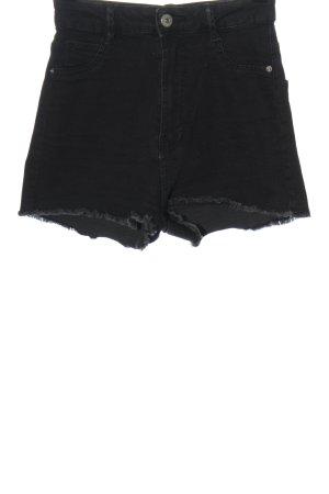 Bershka High-Waist-Shorts schwarz Casual-Look