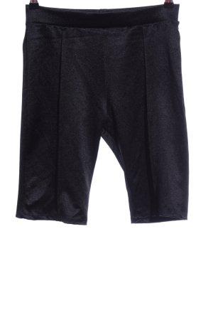 Bershka High-Waist-Shorts schwarz Schimmer-Optik