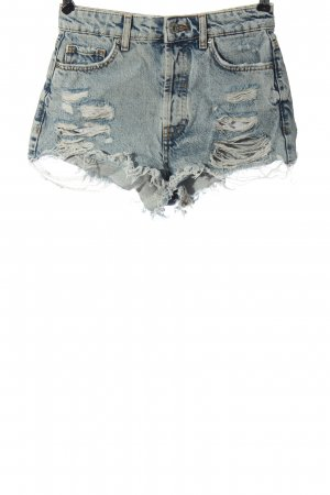 Bershka Hot Pants blue casual look