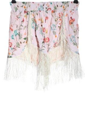 Bershka Hot Pants pink Blumenmuster Casual-Look