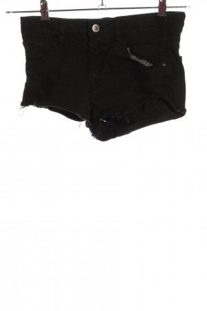 Bershka Hot Pants schwarz Casual-Look
