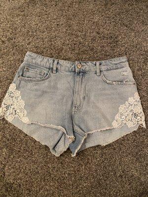 Bershka Short en jean bleu azur