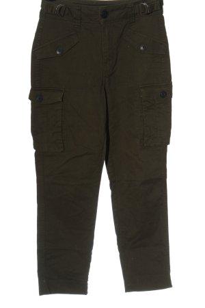 Bershka Low Rise Jeans khaki striped pattern casual look