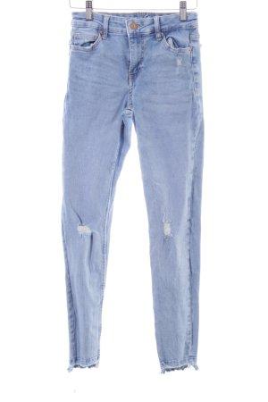 Bershka Jeans taille basse bleu style décontracté