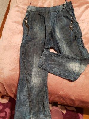Bershka Baggy Jeans dark blue