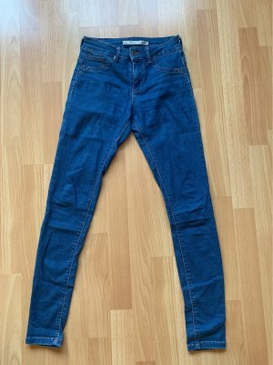 Bershka Low-Rise Trousers blue