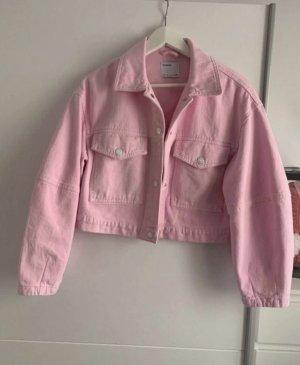 bershka jeans jacke rosa