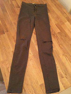 Bershka Jeans khaki Gr. 34 high waist