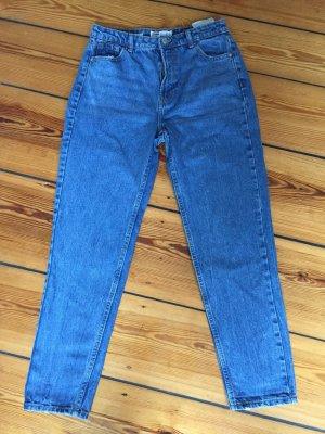 Bershka Hoge taille jeans blauw Katoen