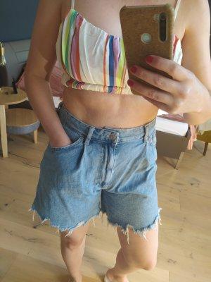 Bershka Jeans Shorts Bermuda Fransen Denim Jeansshorts