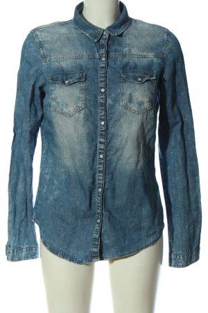Bershka Jeansowa koszula niebieski W stylu casual