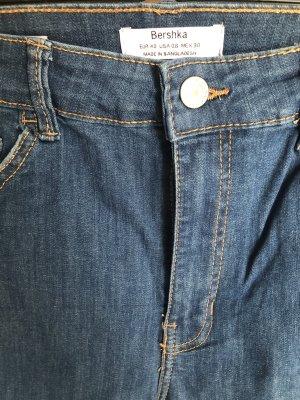 Bershka Tube jeans blauw-staalblauw