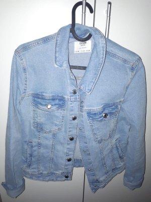Bershka Jeansowa kurtka niebieski