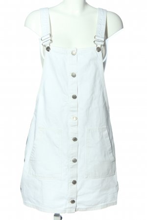 Bershka Robe en jean blanc style décontracté