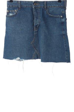 Bershka Spijkerrok blauw casual uitstraling
