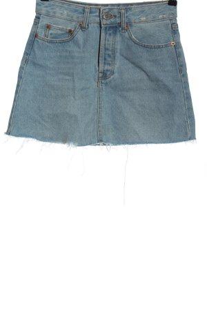 Bershka Jupe en jeans bleu style décontracté