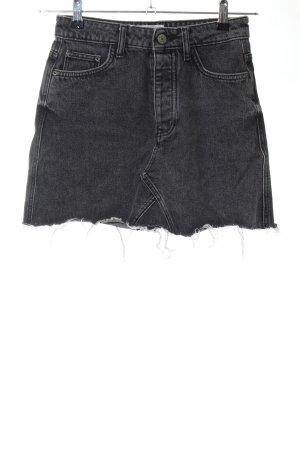 Bershka Jupe en jeans gris Aspect de jeans
