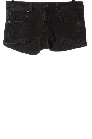 Bershka Jeansshorts schwarz Casual-Look