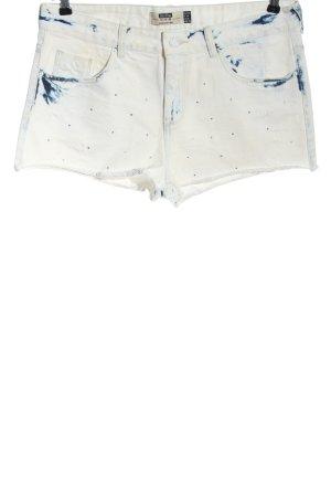 Bershka Jeansshorts weiß-blau Farbverlauf Casual-Look