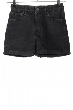 Bershka Short en jean noir style décontracté