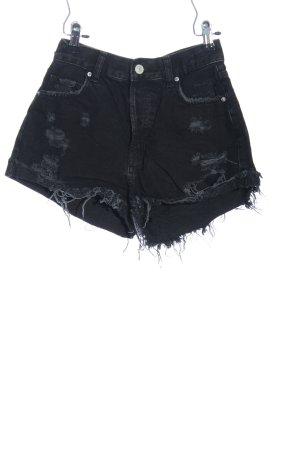 Bershka Jeansowe szorty czarny W stylu casual