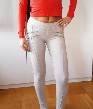 Bershka Jeggings mit Reißverschluss mid waist Slimfit skinny Jeans Leggings